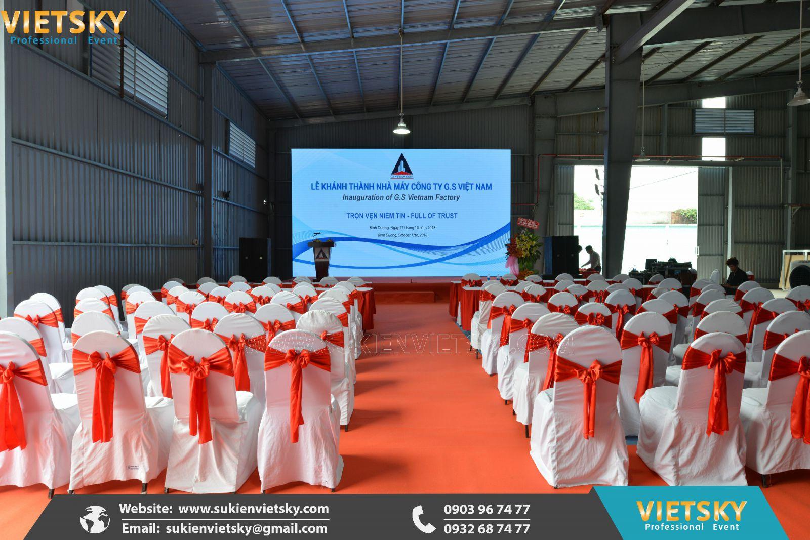 tổ chức lễ khánh thành nhà máy chuyên nghiệp tại hcm