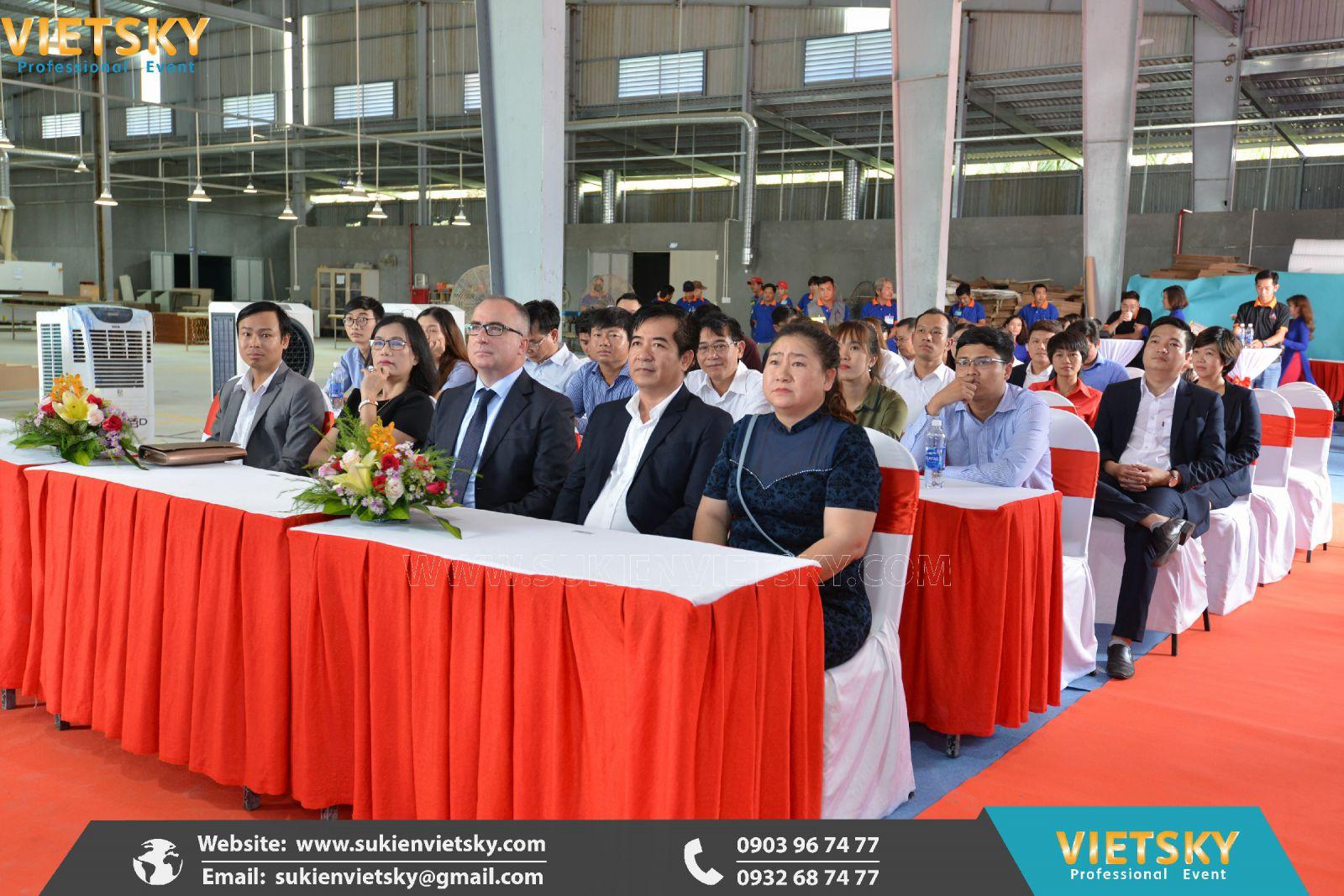 tổ chức lễ khánh thành nhà máy chuyên nghiệp tại bình phước
