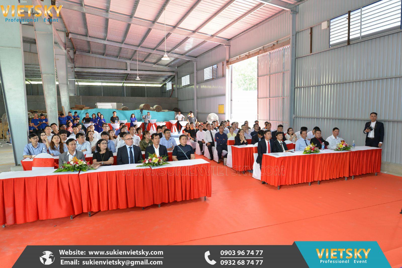tổ chức lễ khánh thành nhà máy chuyên nghiệp tại đồng nai